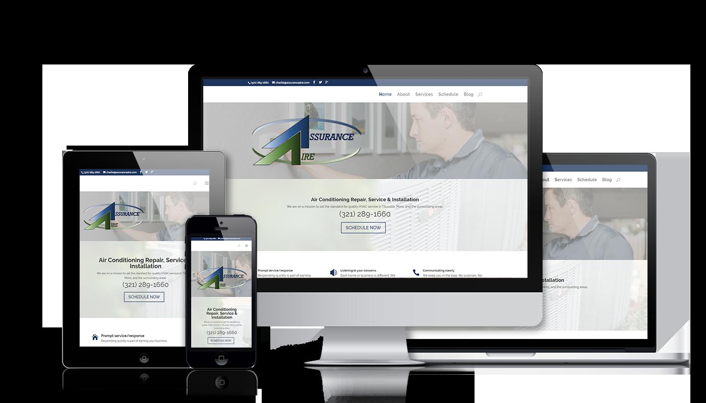 Assurance Aire responsive website