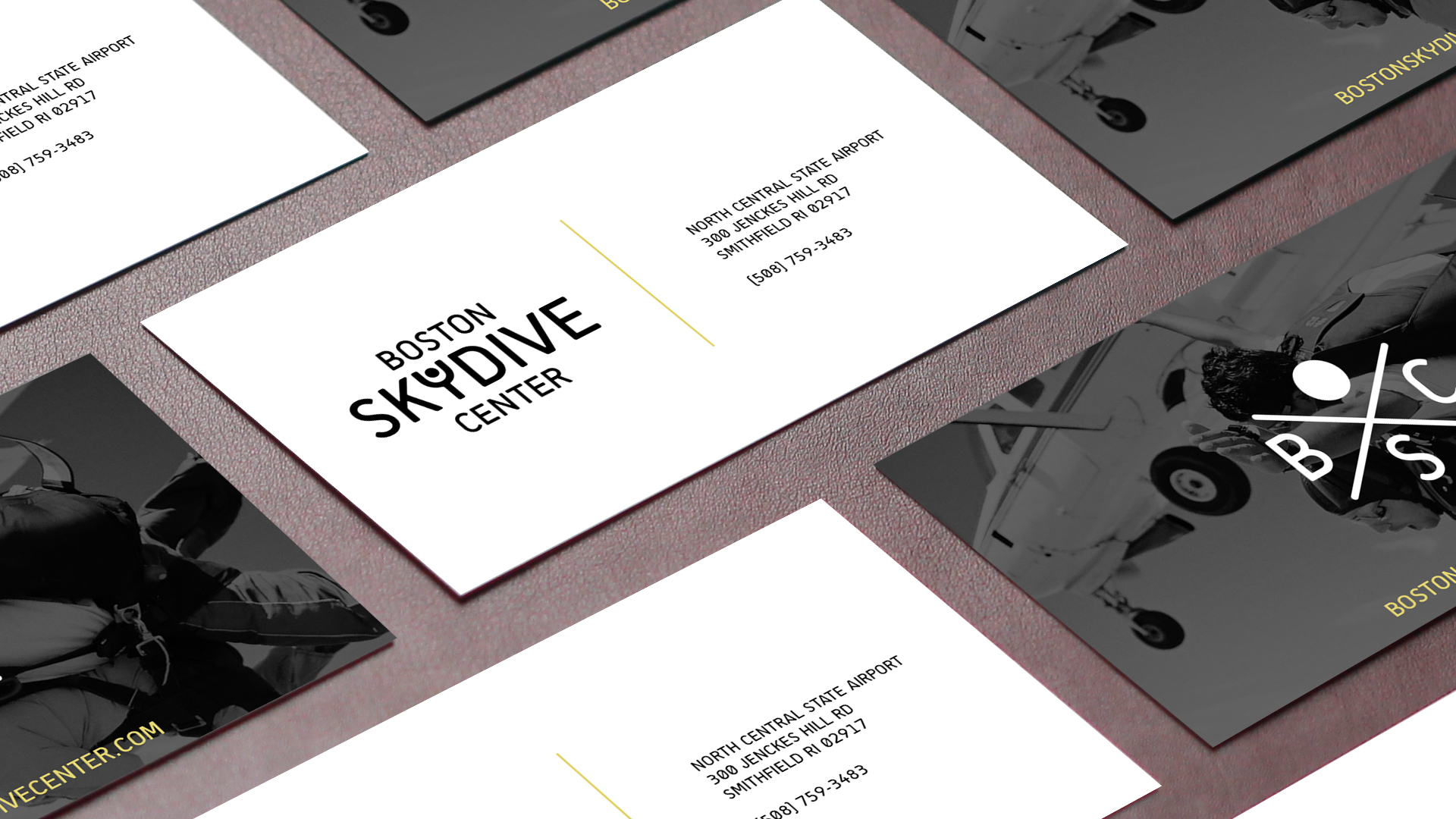 Boston Skydive Center business card