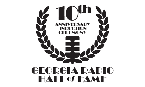 Georgia Radio Hall of Fame 10th Anniversary Induction Ceremony logo