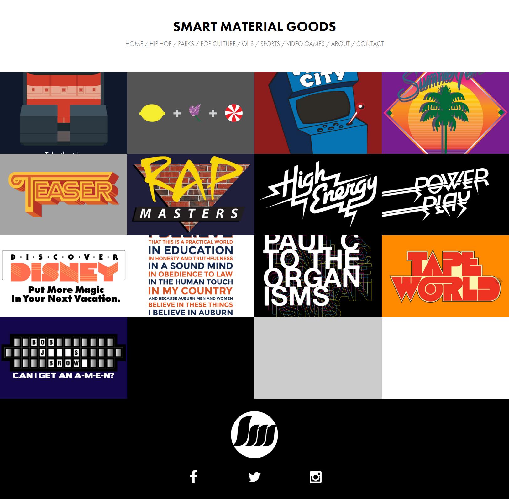Smart Material Goods website