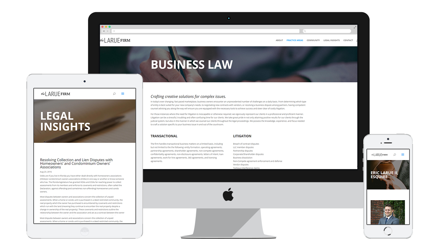 The LaRue Firm responsive website