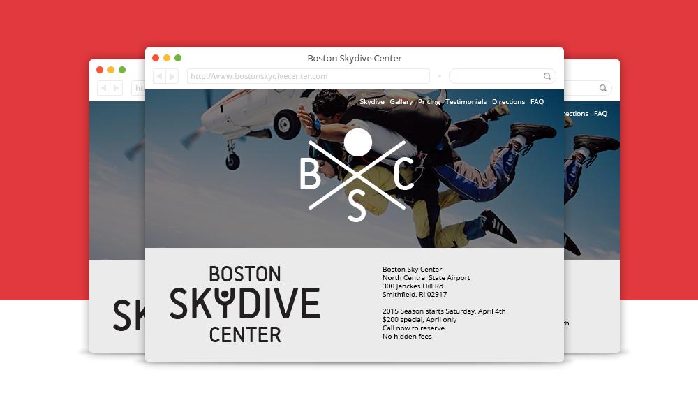 Boston Skydive Center website